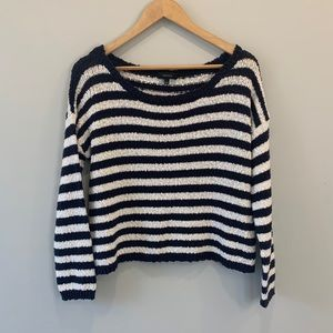 🌼 2/$40 Aritzia Talula Striped Knit Sweater